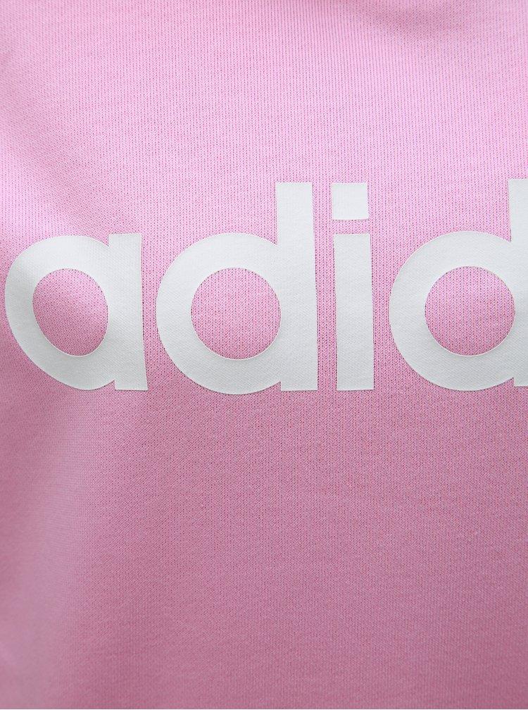 Hanorac roz de dama cu imprimeu adidas CORE
