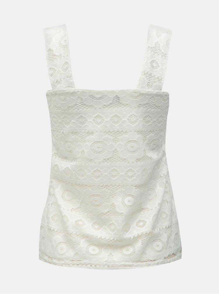 Bílý krajkový top Dorothy Perkins
