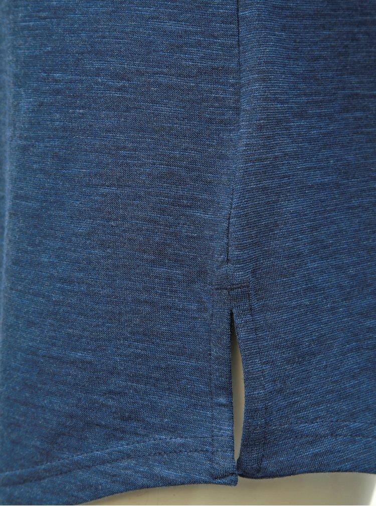 Tricou albastru inchis melanj de dama cu imprimeu adidas Performance Winners