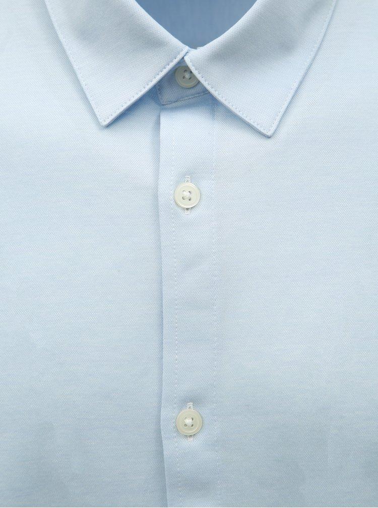 Camasa albastru deschis slim fit cu maneci scurte Selected Homme
