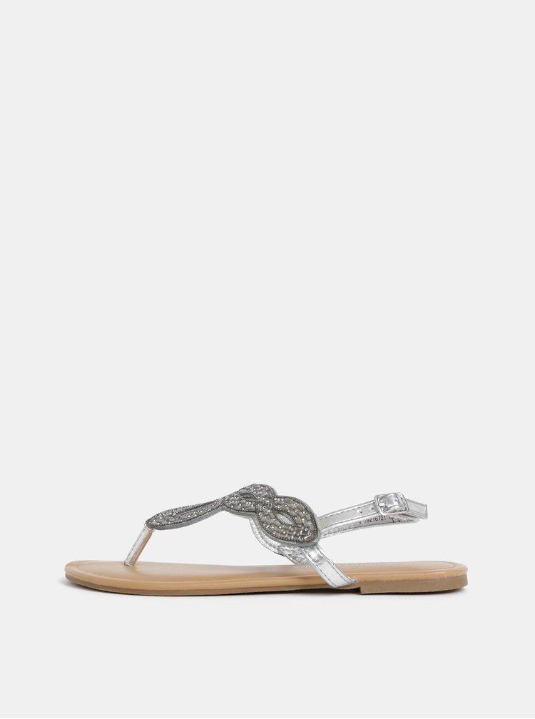 Sandále v striebornej farbe Dorothy Perkins