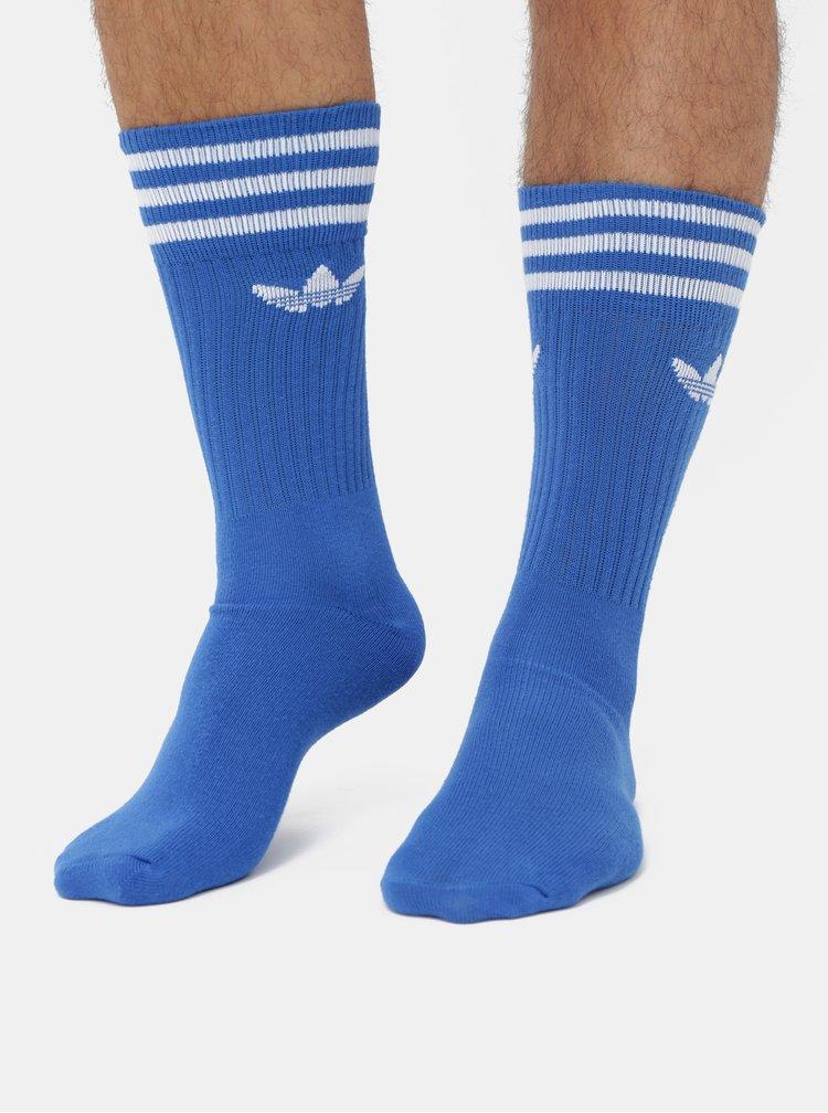 Sada tří párů pánských ponožek v modré a bílé barvě adidas Originals Solid Crew