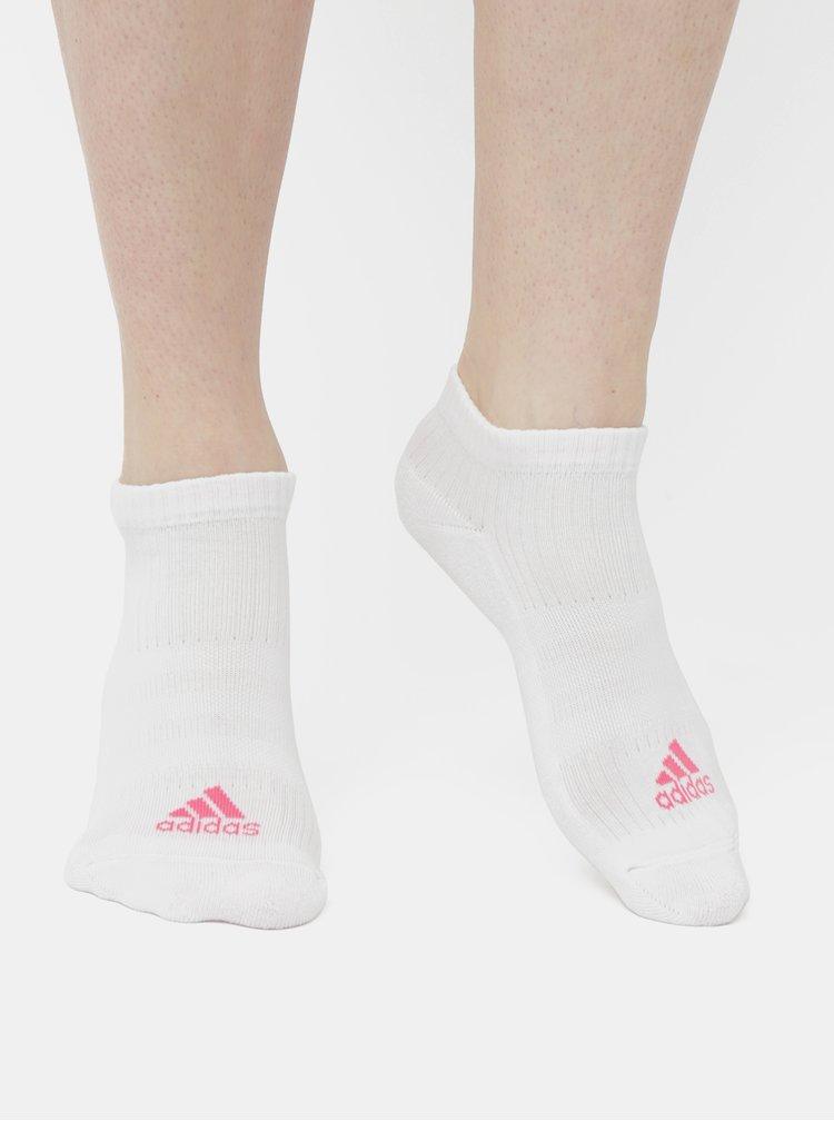 Balenie troch párov dámskych ponožiek v bielej a ružovej farbe adidas Performance