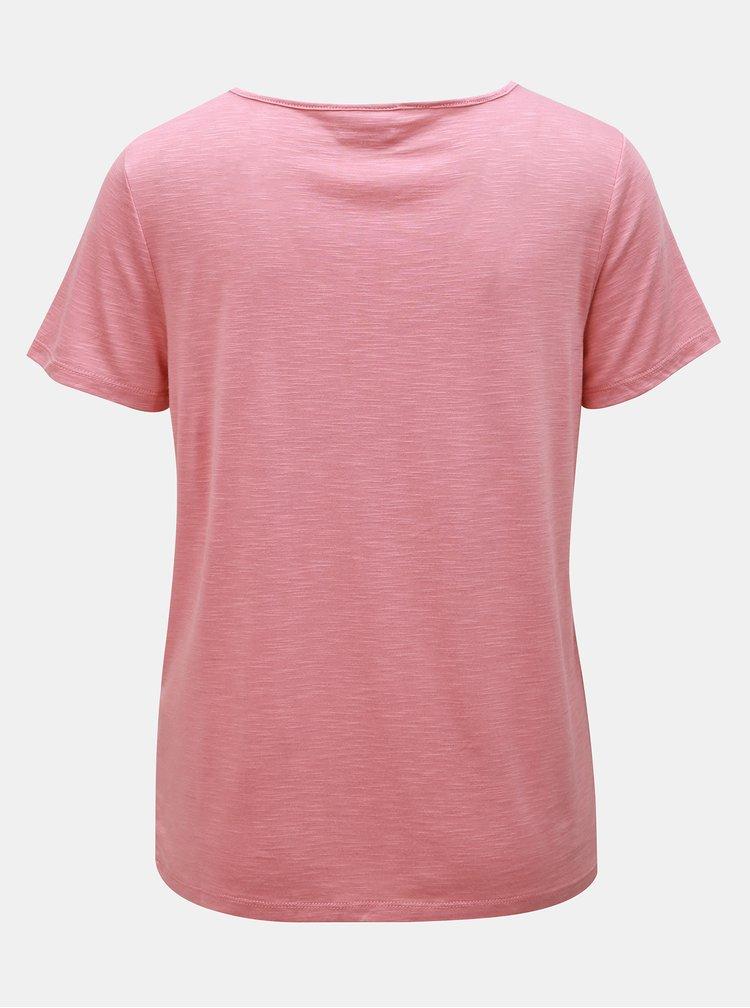 Růžové tričko VILA Noel