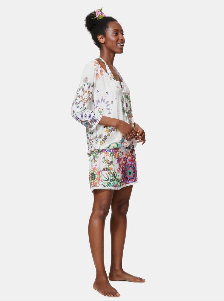 Bílé vzorované šaty Desigual Melina