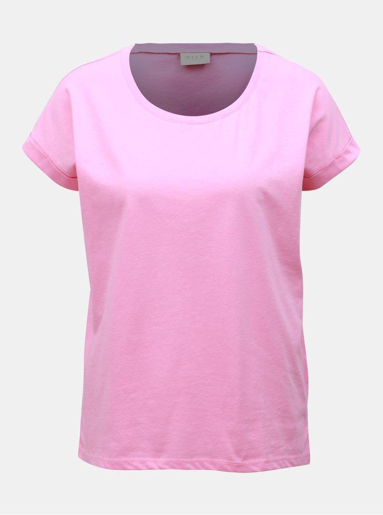 Tricou basic roz VILA Dreamers