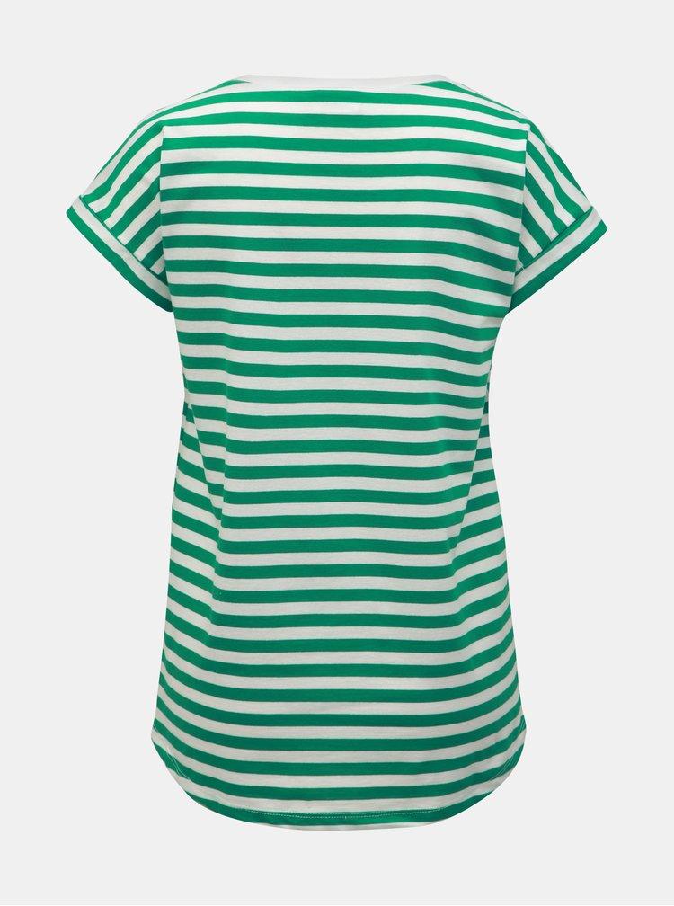 Zeleno–biele pruhované basic tričko VILA Dreamers