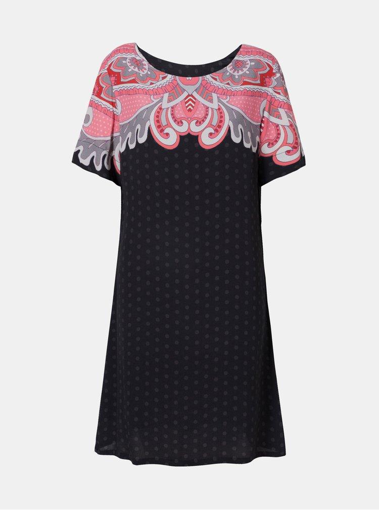 Černé vzorované šaty Desigual Túnica