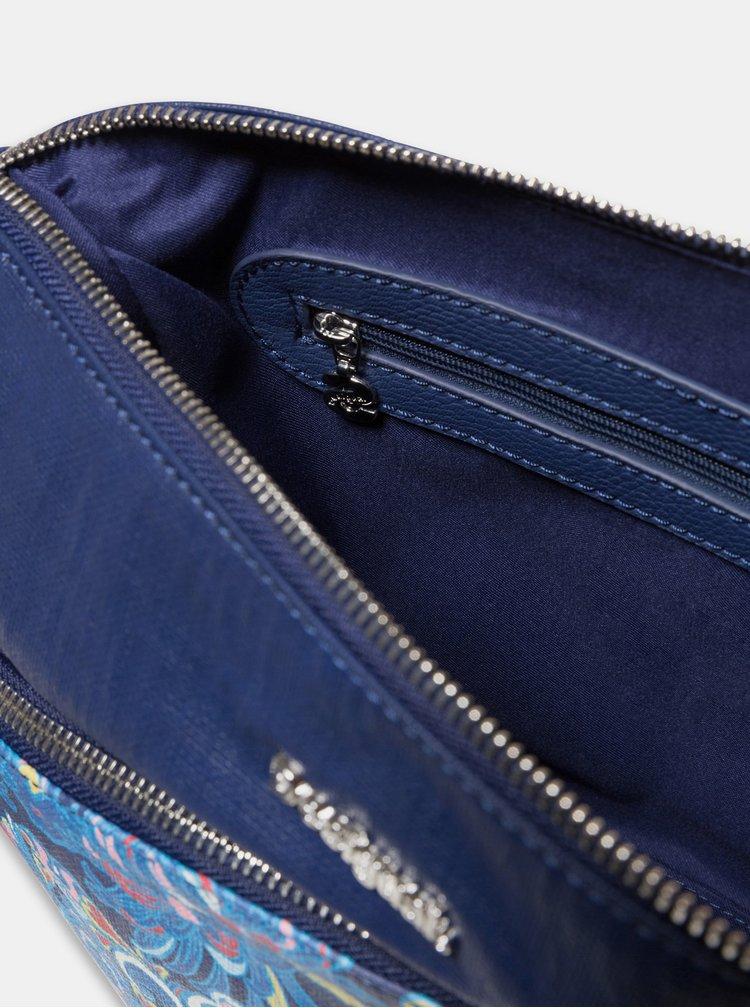 Geanta albastru inchis peste umar cu model Desigual Psicodelia