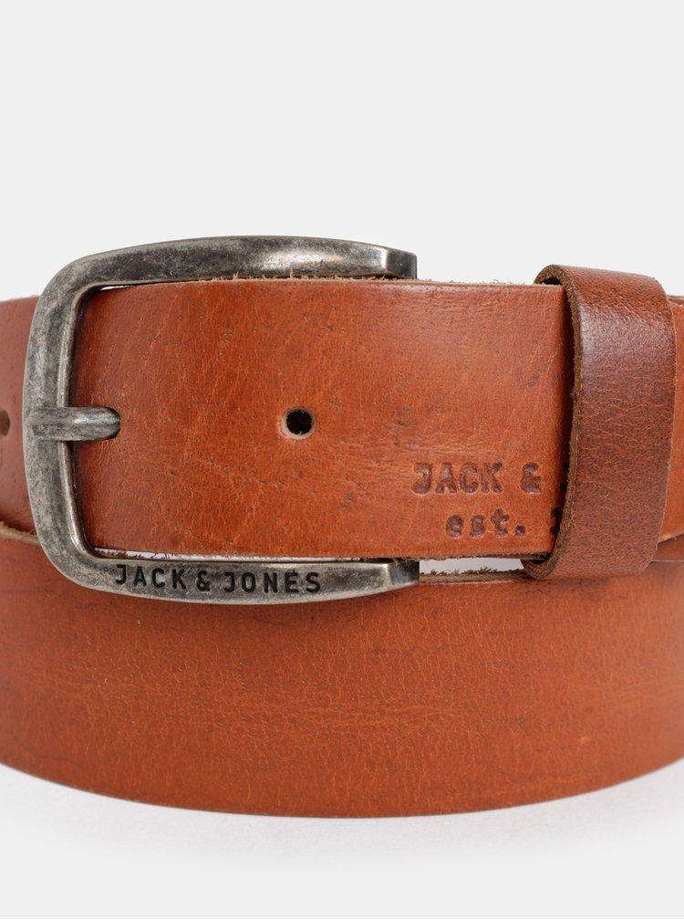 Curea maro din piele naturala Jack & Jones Paul