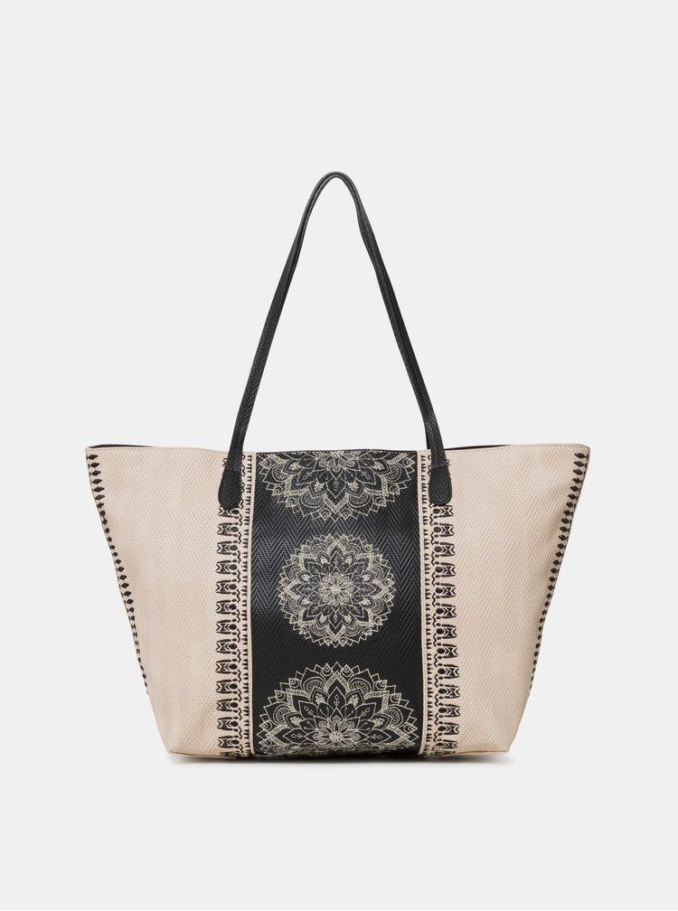 Béžová vzorovaná kabelka Desigual Lady Capri