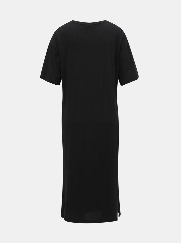 Černé basic šaty s rozparky Noisy May Mayden