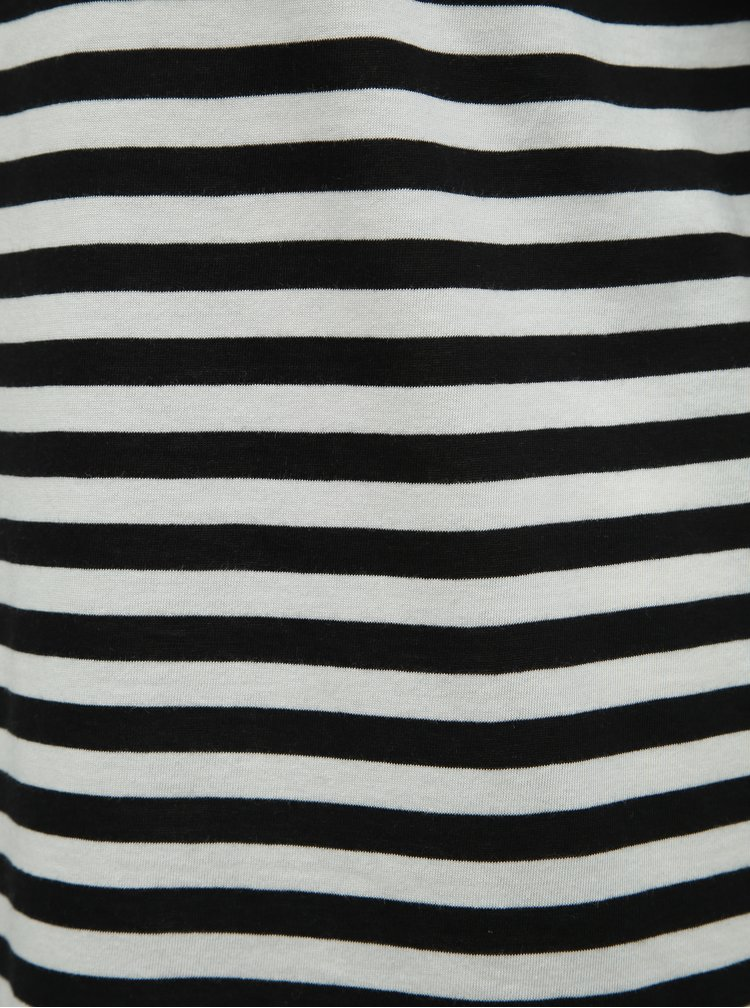 Rochie basic alb-negru in dungi cu taieturi Noisy May Mayden