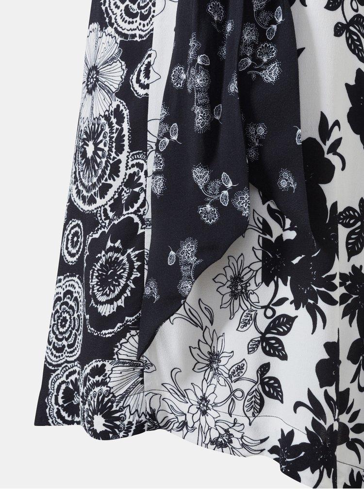 Bílo-černá květovaná sukně Desigual Paola