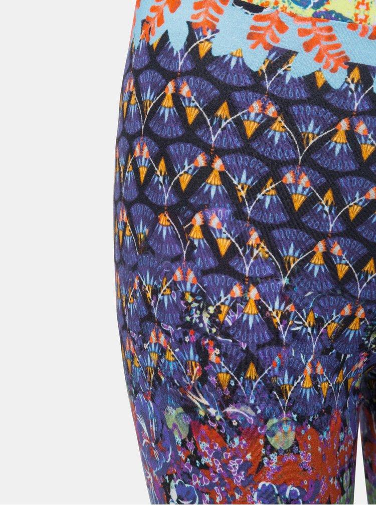Fialovo–modré vzorované legíny Desigual Johana