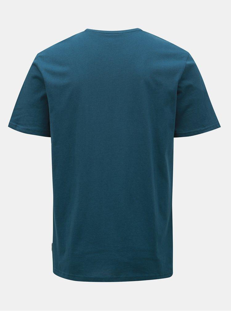 Modré tričko s potlačou ONLY & SONS Loris