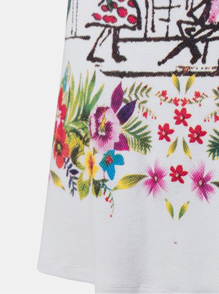 Bílé vzorované šaty Desigual Anna
