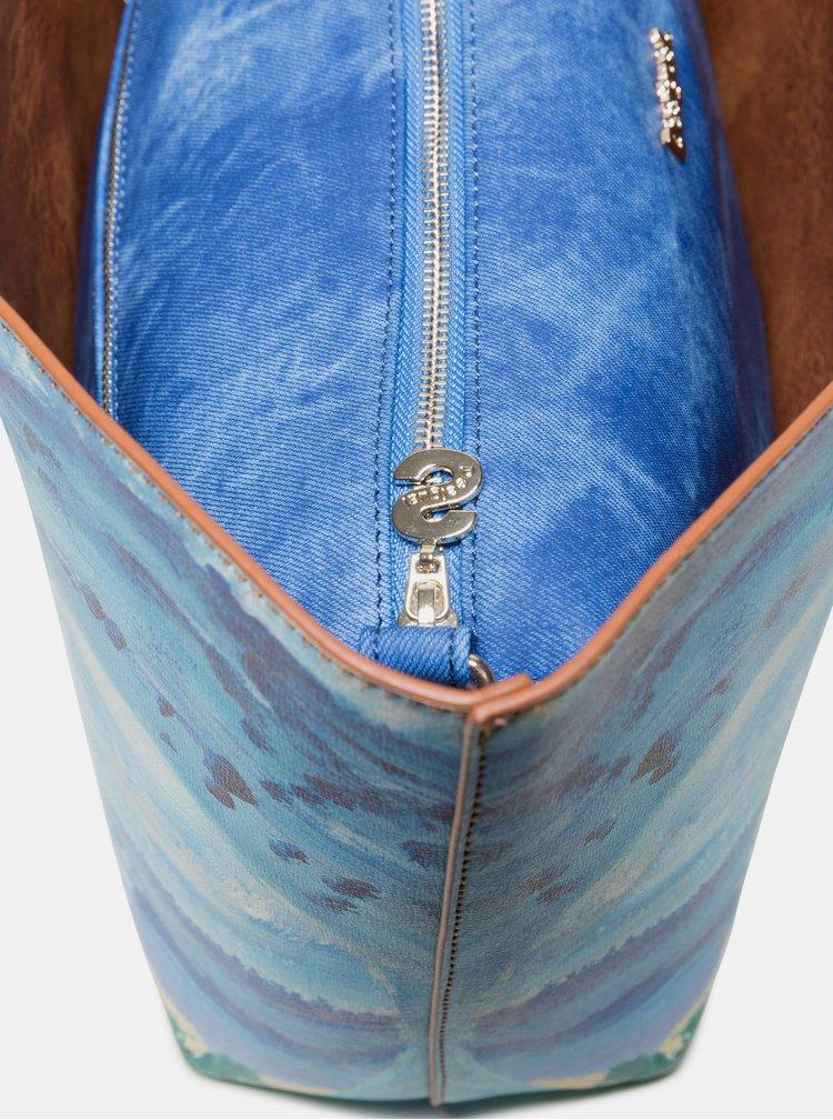 Geanta albastra reversibila cu model 2 in 1 Desigual Landscape Ocean