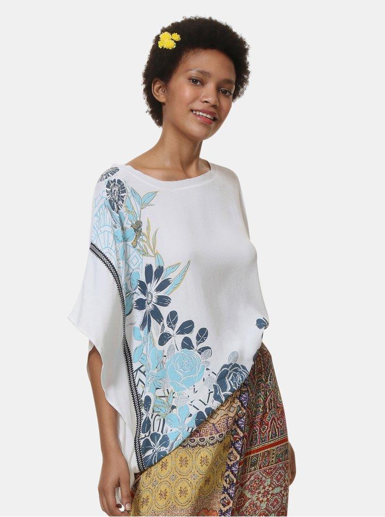 Bluza alba florala Desigual Donna