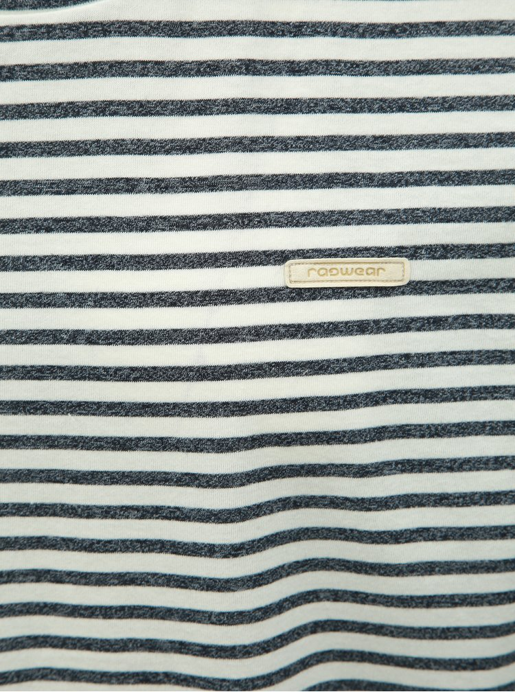Černo-bílé pánské pruhované tričko Ragwear Paul Stripe Organic
