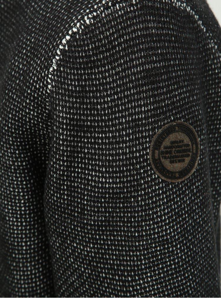 Hanorac negru cu model Shine Original