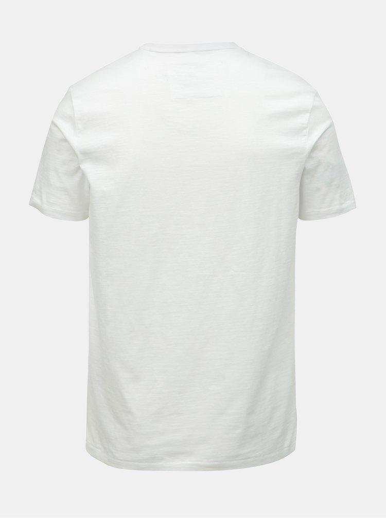 Bílé tričko s potiskem ONLY & SONS Patrik