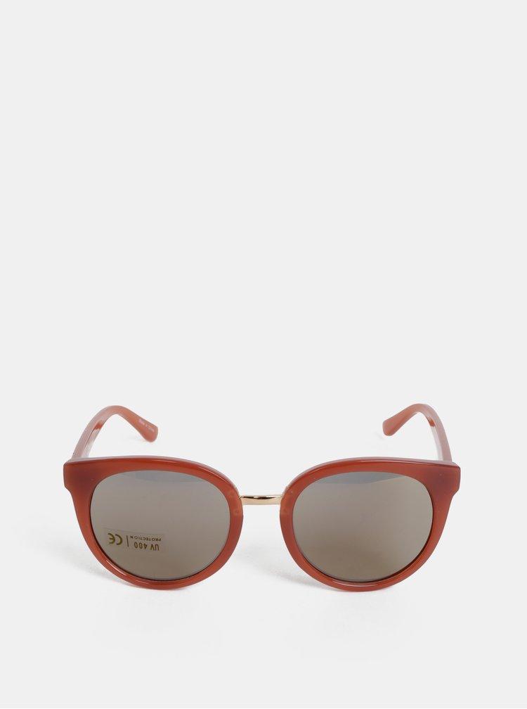 Růžové sluneční brýle Pieces Betty