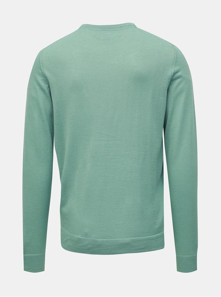 Svetlozelený sveter z Merino vlny Lindbergh