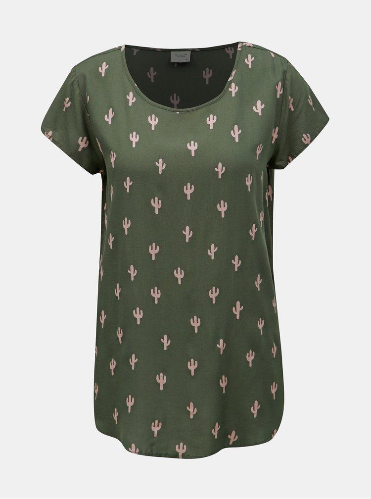 Tricou verde cu model Jacqueline de Yong Marli
