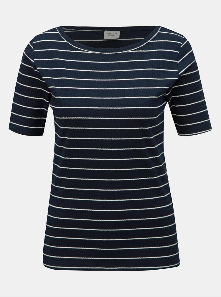 Tmavě modré pruhované basic tričko Jacqueline de Yong Nevada