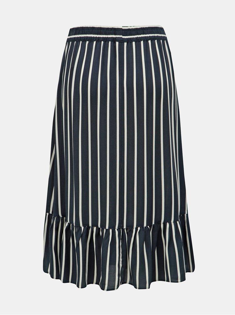Modrá pruhovaná sukně Jacqueline de Yong Star Frill