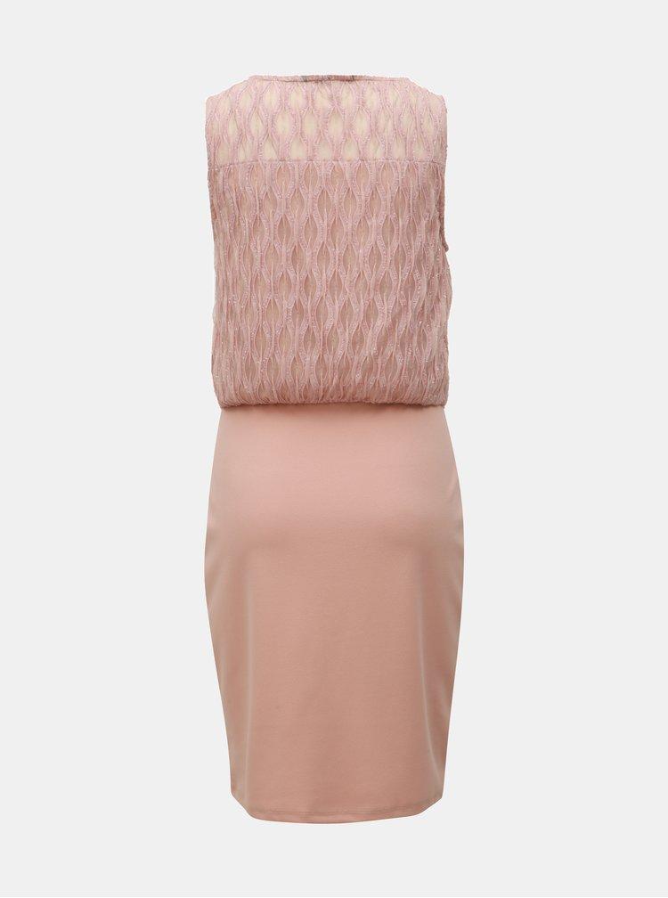 Světle růžové pouzdrové šaty VERO MODA Shanie