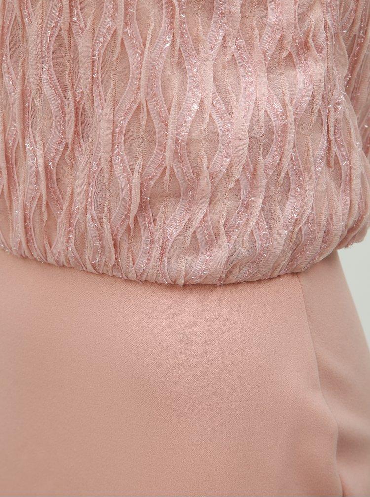 Svetloružové puzdrové šaty VERO MODA Shanie