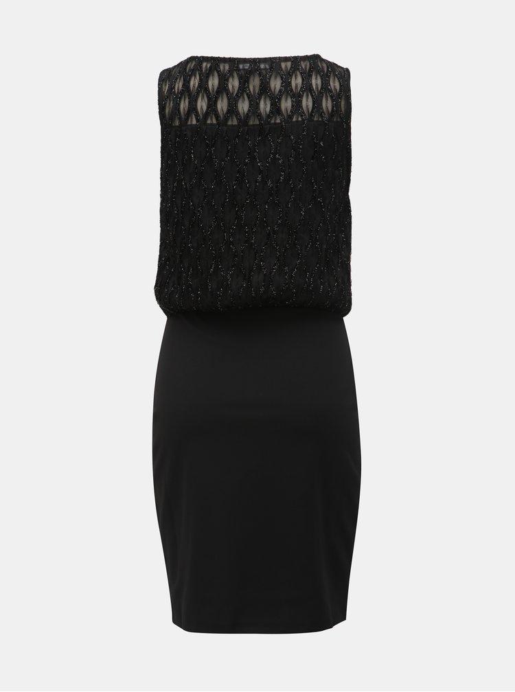 Černé pouzdrové šaty VERO MODA Shanie