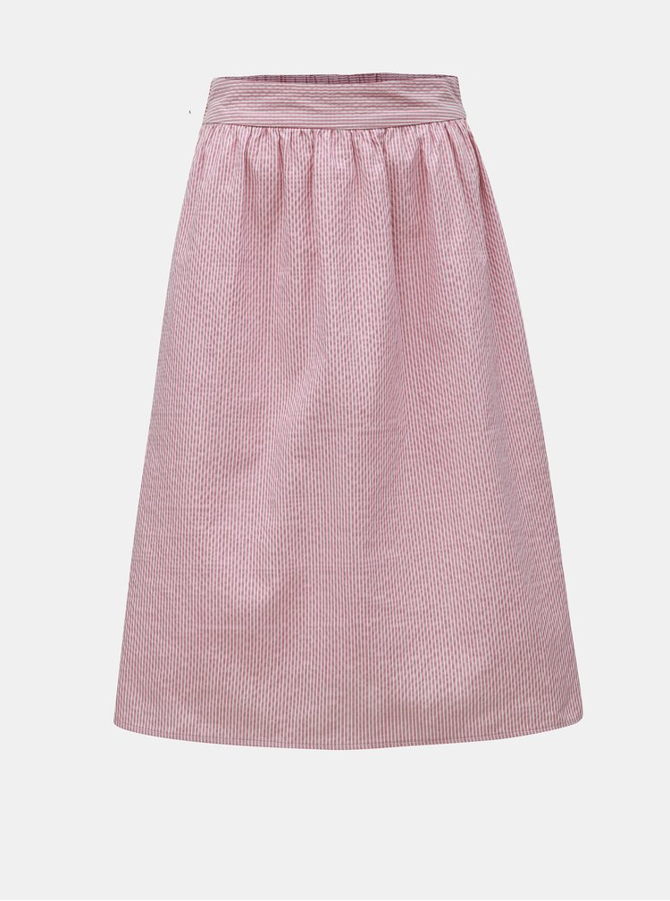 Starorůžová pruhovaná sukně VERO MODA Jane