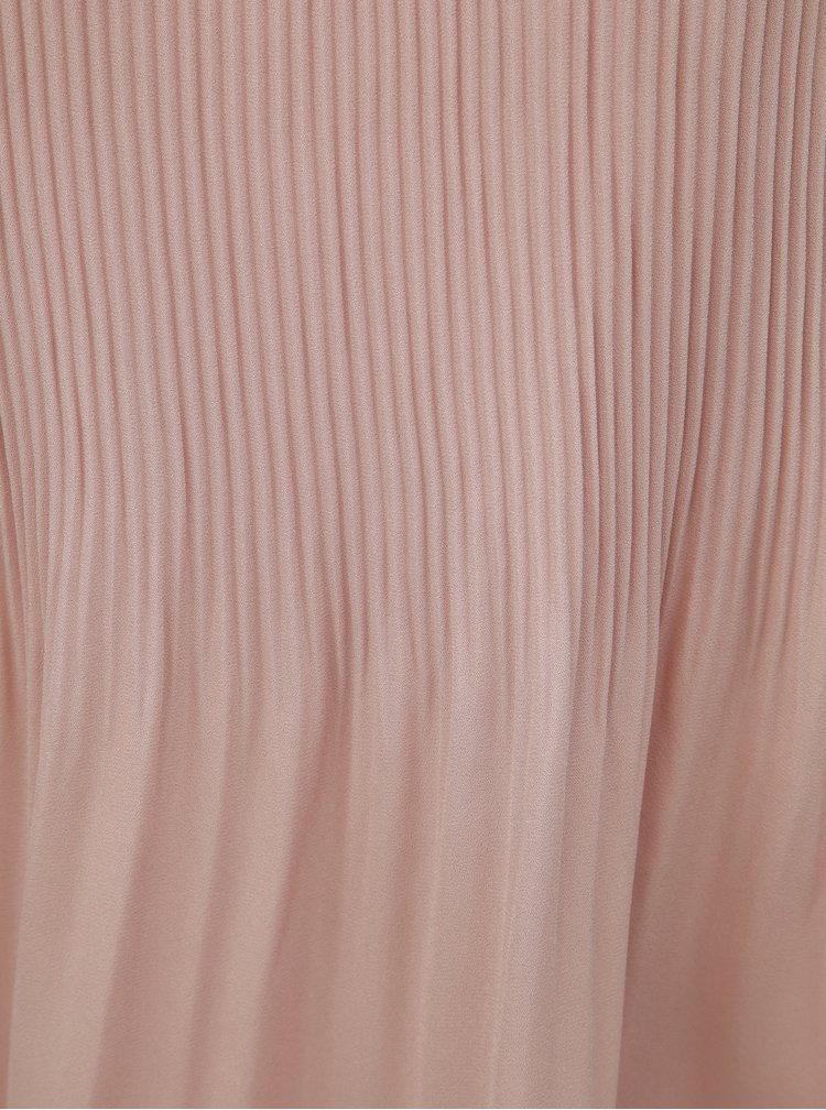 Starorůžový plisovaný top s krajkou ONLY Carolina