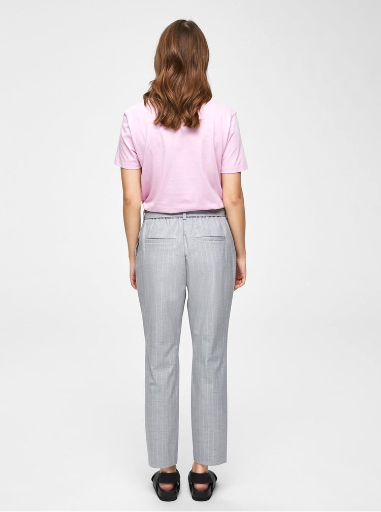 Tricou basic roz Selected Femme My Perfect