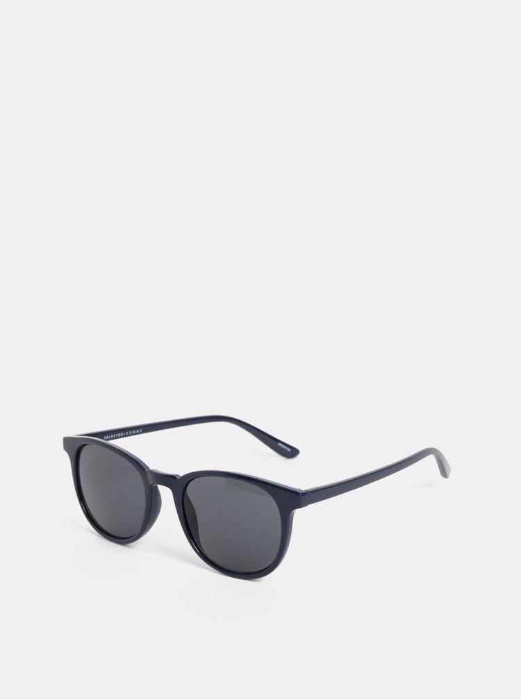 Tmavomodré slnečné okuliare Selected Homme Michael