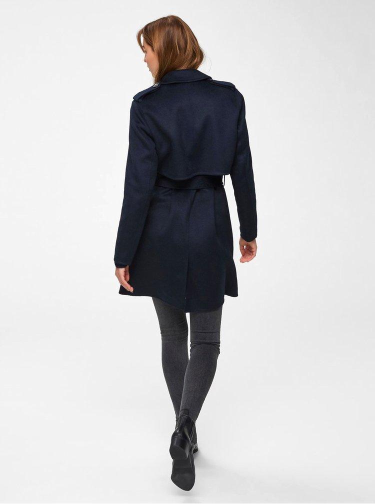 Tmavě modrý vlněný kabát Selected Femme Tana