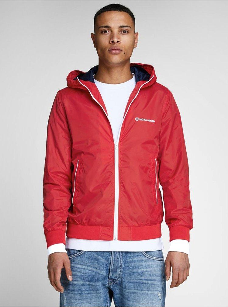 Červená lehká bunda Jack & Jones Pete
