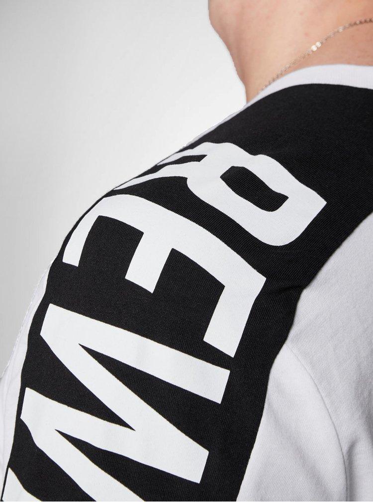 Černo-bílé slim tričko Jack & Jones Rock
