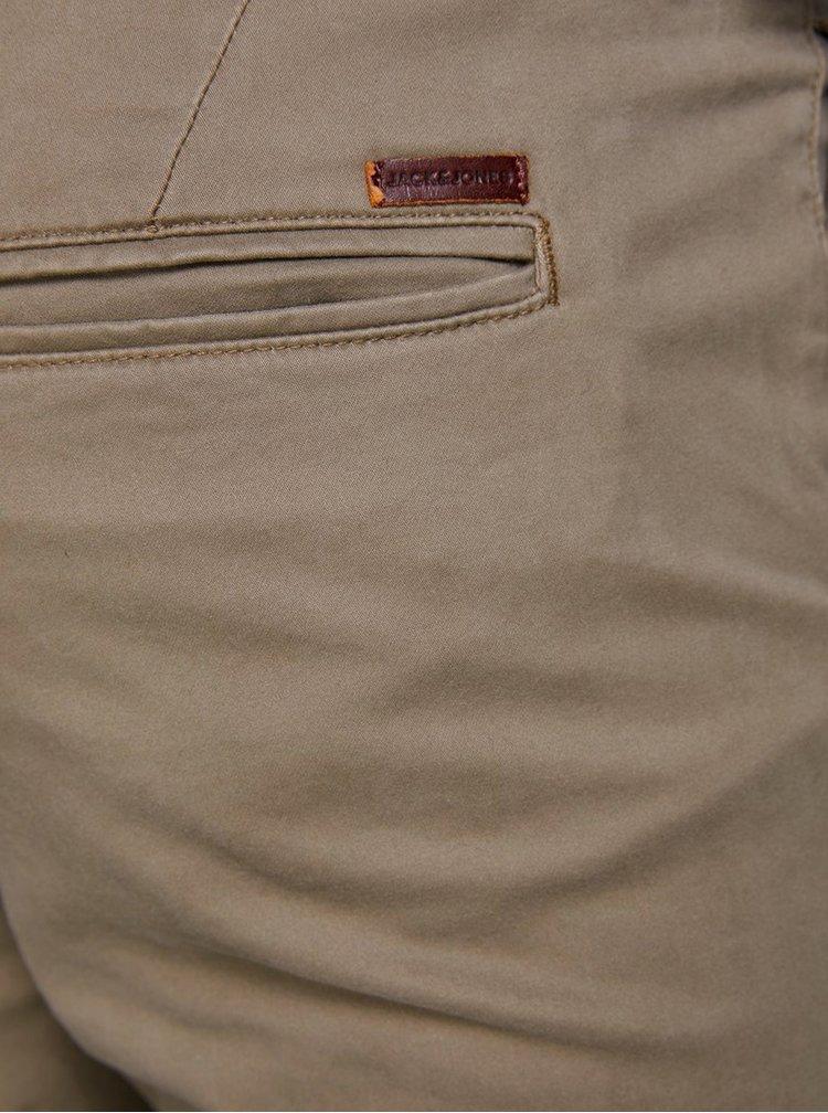 Béžové slim nohavice Jack & Jones Marco