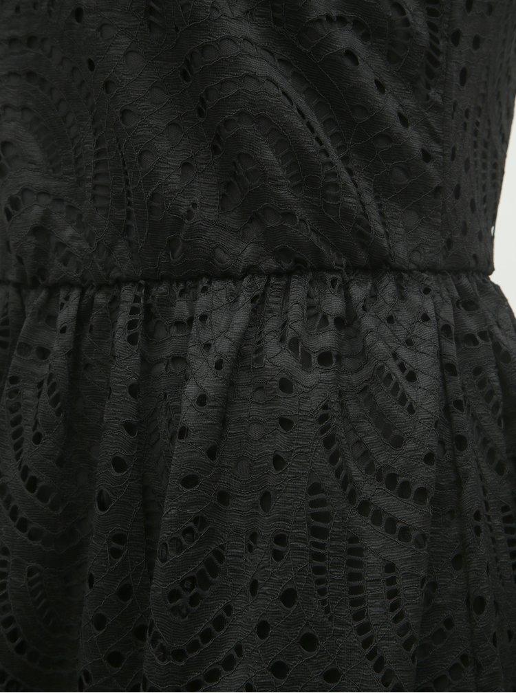 Černé krajkové šaty ONLY Edith
