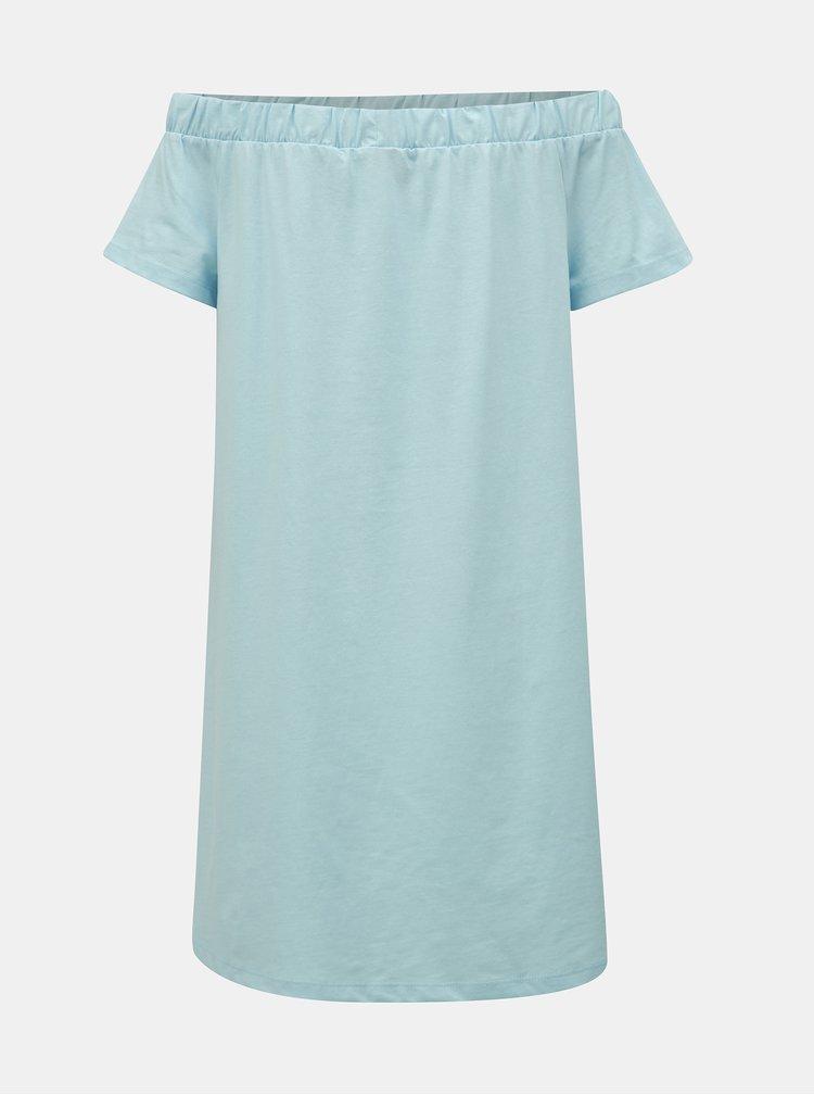 Světle modré šaty s odhalenými rameny VERO MODA Alzia