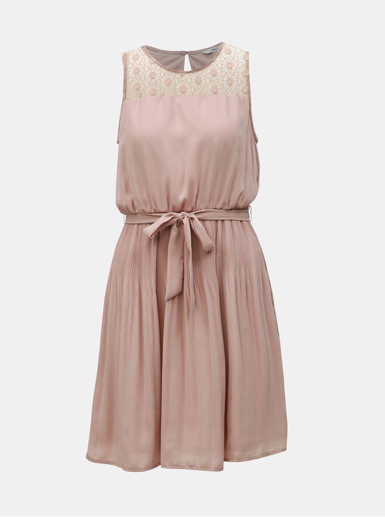 Rochie roz prafuit cu fusta plisata ONLY Carolina