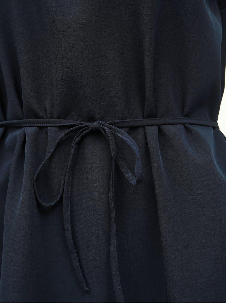 Tmavomodré šaty s čipkou ONLY Lunu