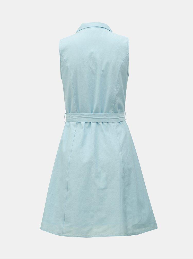 Světle modré košilové šaty VERO MODA Abena