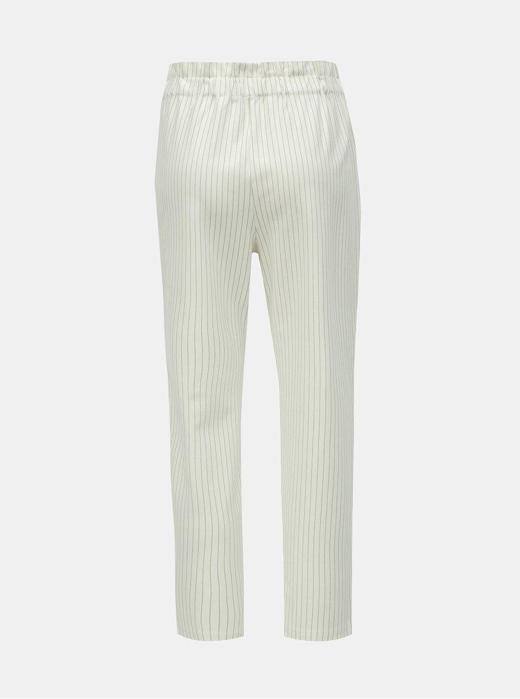 d861a06c599b Krémové pruhované nohavice ONLY Florence