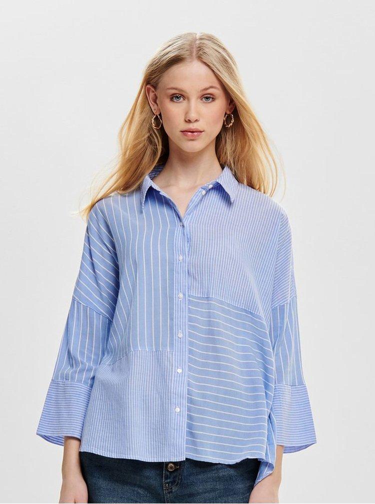 Modrá pruhovaná košile ONLY Grace