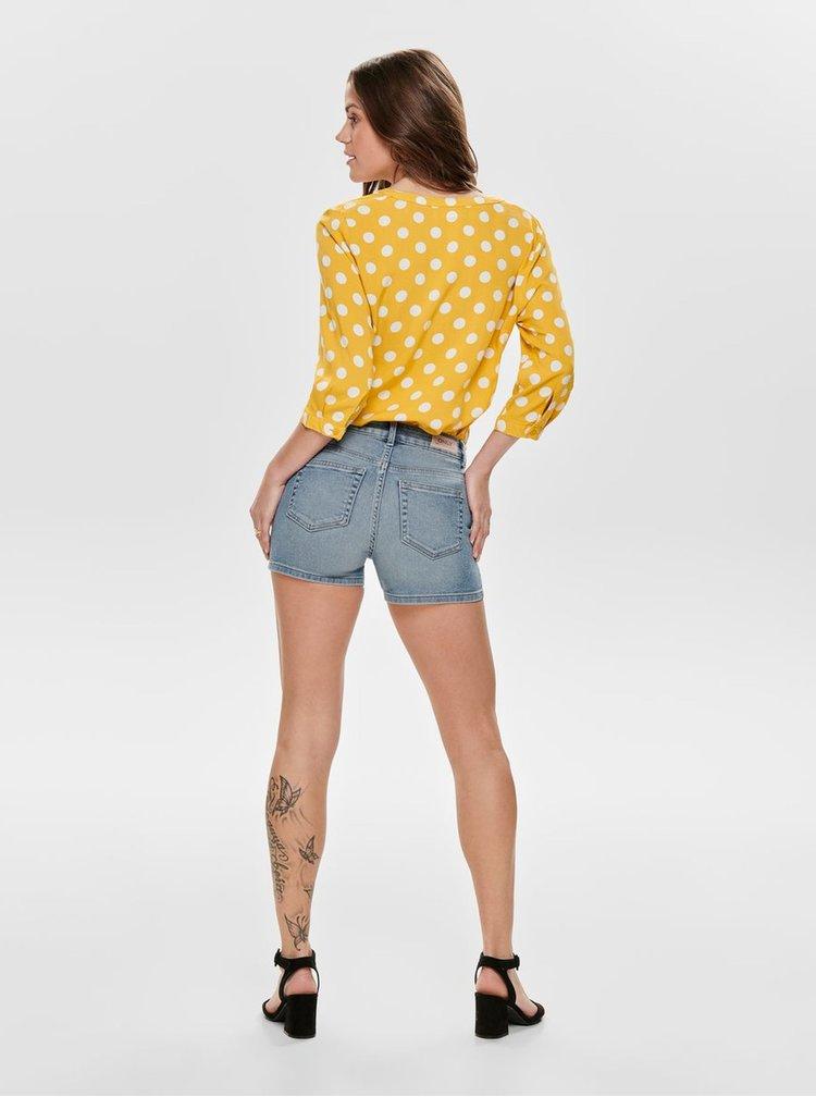 Žlutá puntíkovaná halenka Jacqueline de Yong Star
